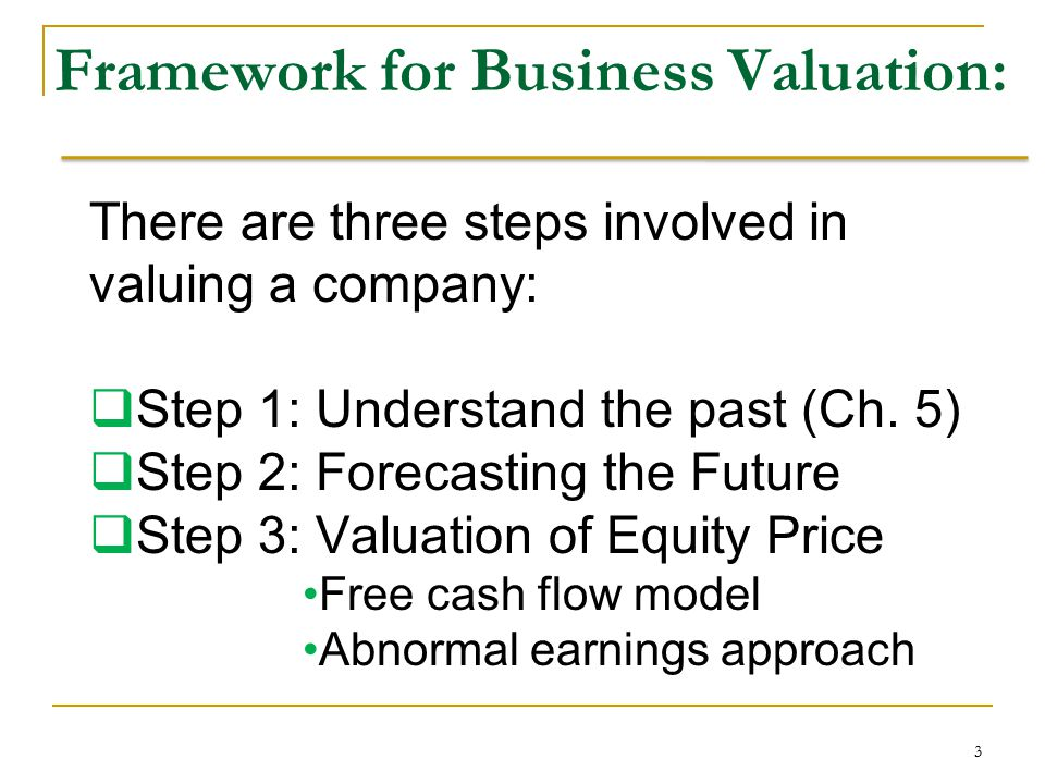 Framework for Business Valuation: