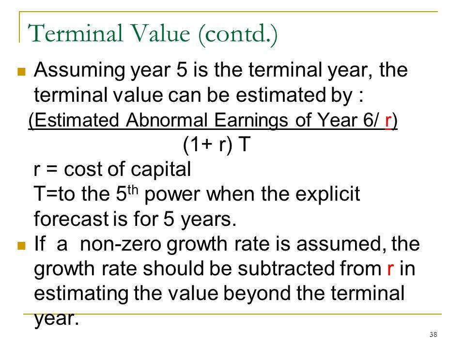 Terminal Value (contd.)