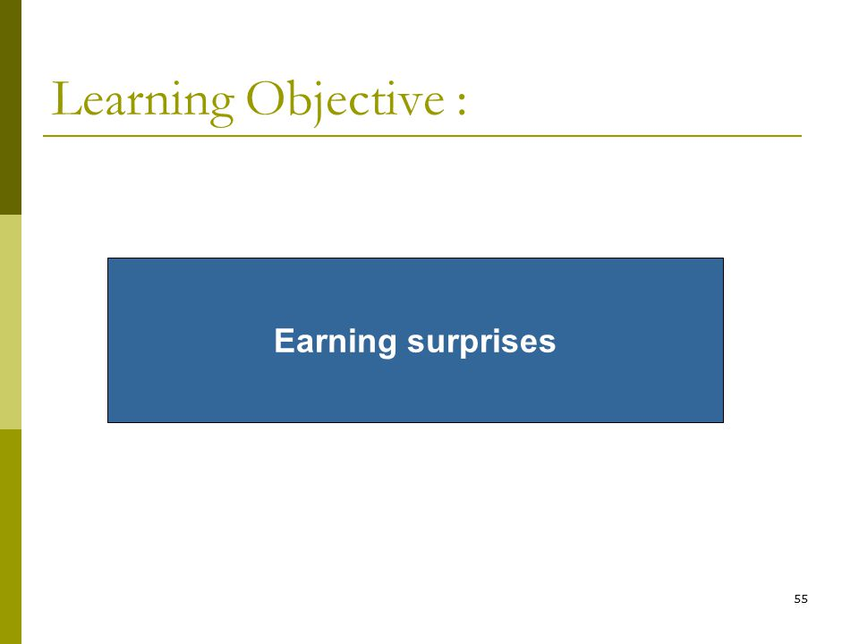 Learning Objective : Earning surprises