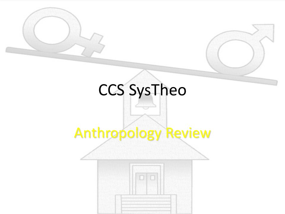 CCS SysTheo Anthropology Review