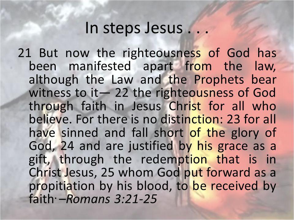 In steps Jesus . . .