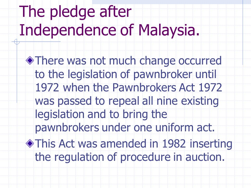 The pledge after Independence of Malaysia.