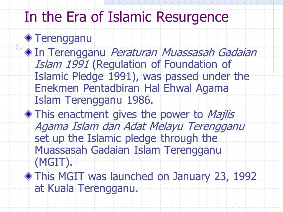 In the Era of Islamic Resurgence
