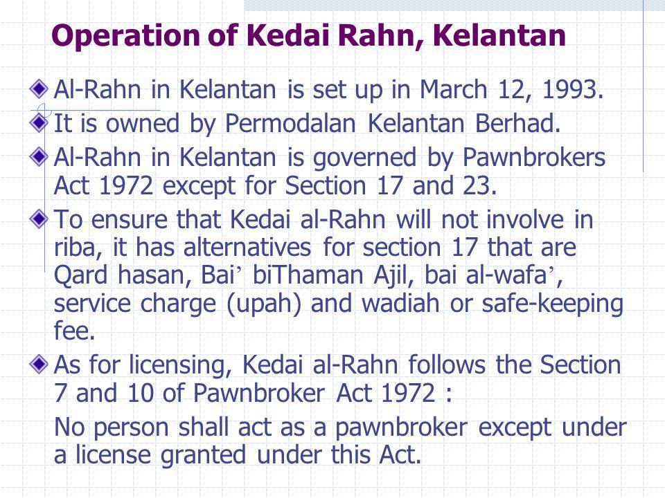 Operation of Kedai Rahn, Kelantan