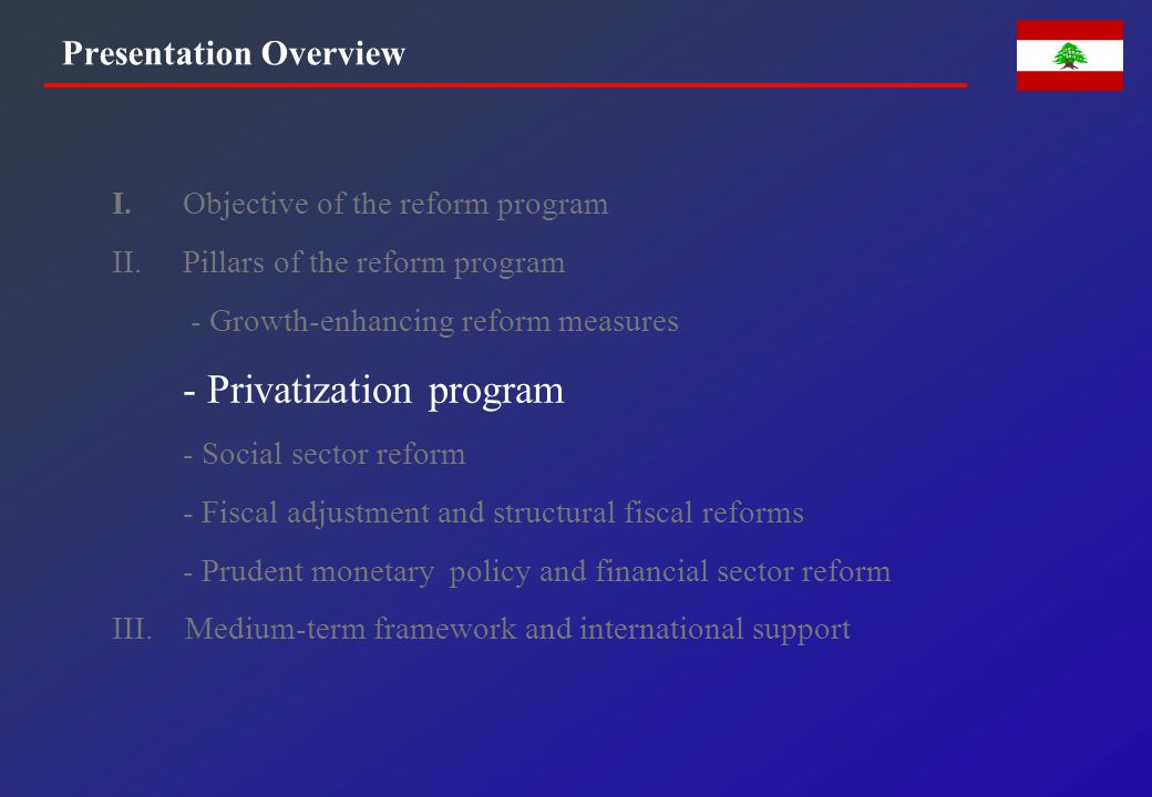 PRIVATIZATION PROGRAM AND ASSET MANAGEMENT