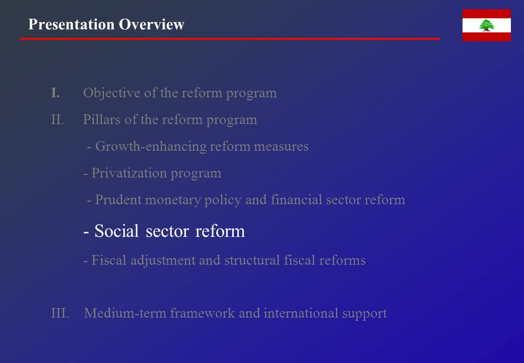 SOCIAL SECTOR REFORM PROGRAM