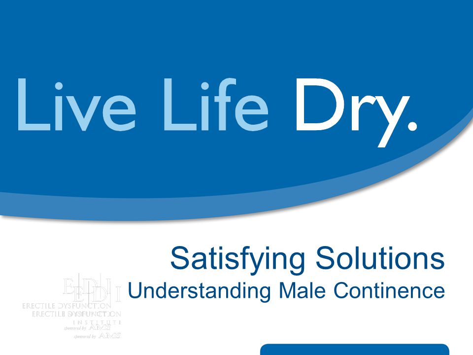 Satisfying Solutions Understanding Male Continence