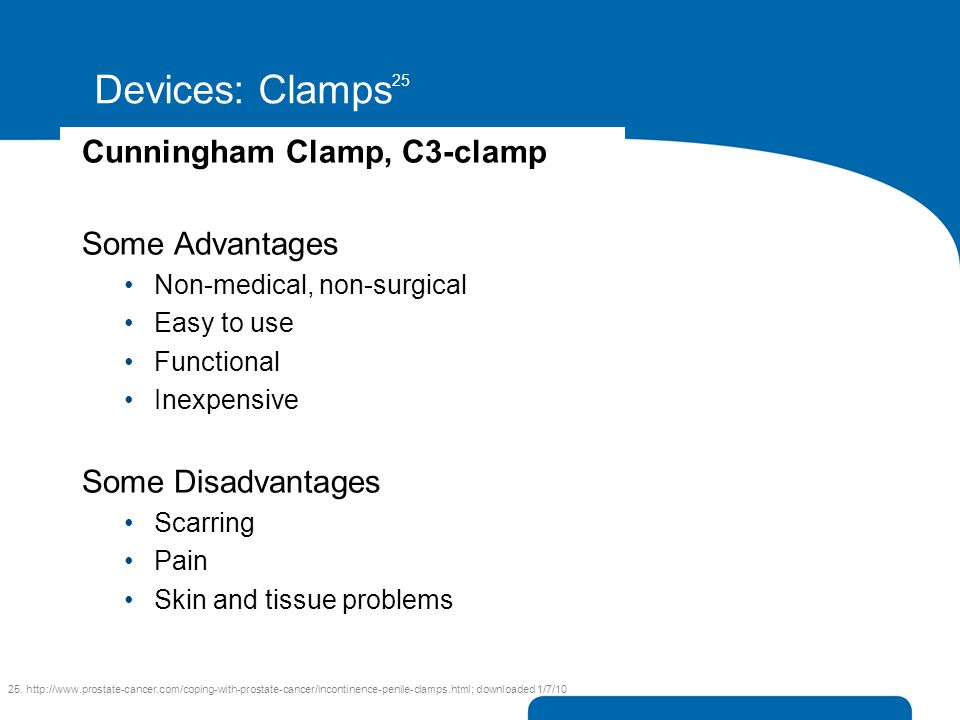 Devices: Clamps25 Cunningham Clamp, C3-clamp Some Advantages