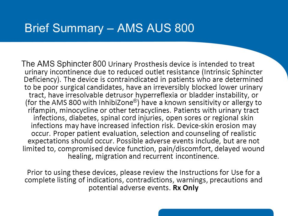 Brief Summary – AMS AUS 800