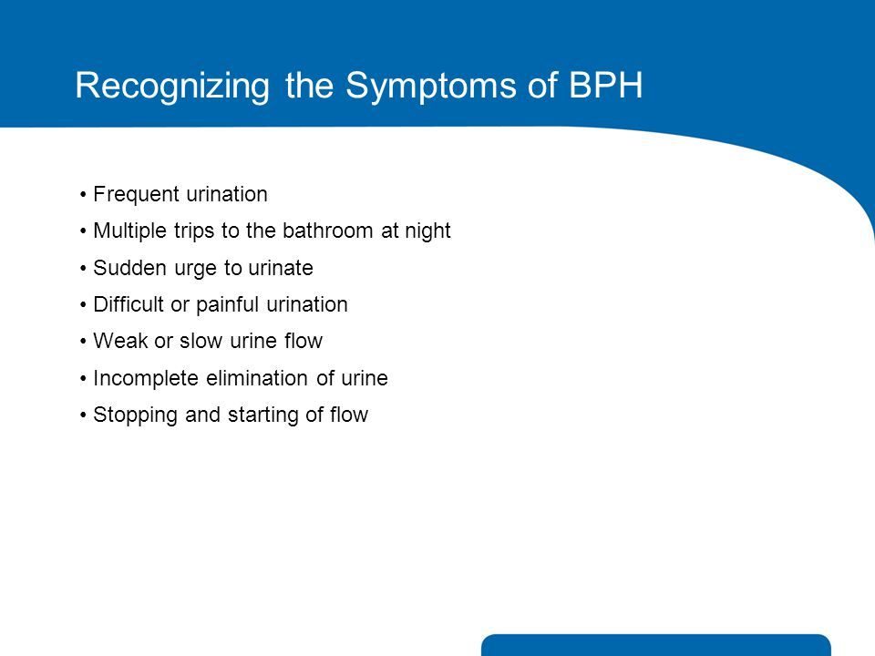 Recognizing the Symptoms of BPH