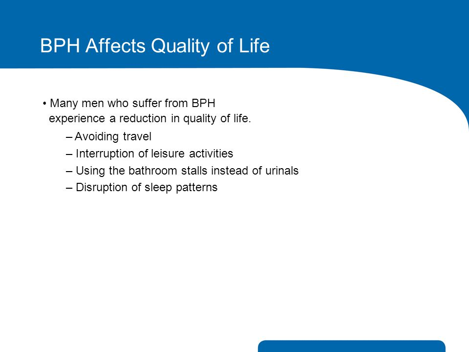 BPH Affects Quality of Life