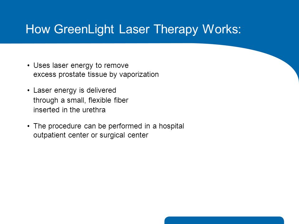 How GreenLight Laser Therapy Works: