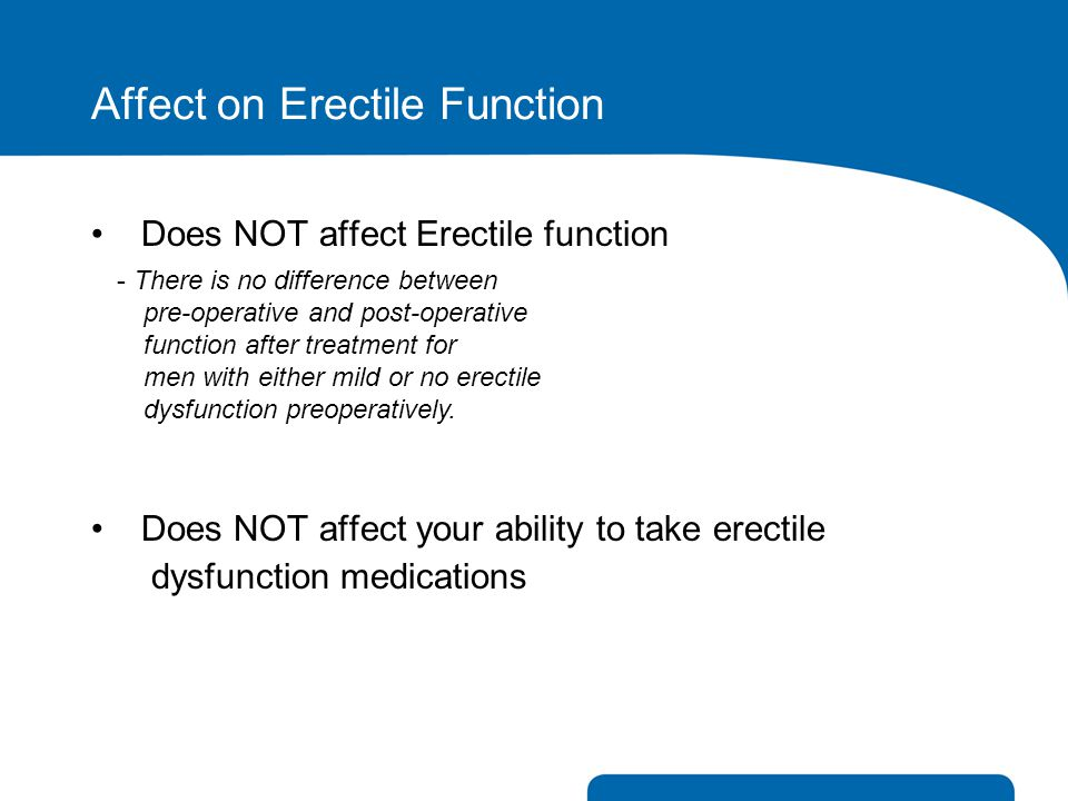 Affect on Erectile Function