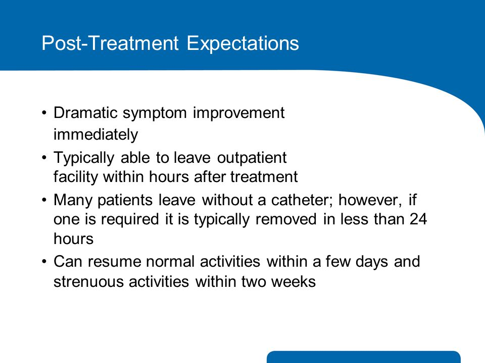 Post-Treatment Expectations