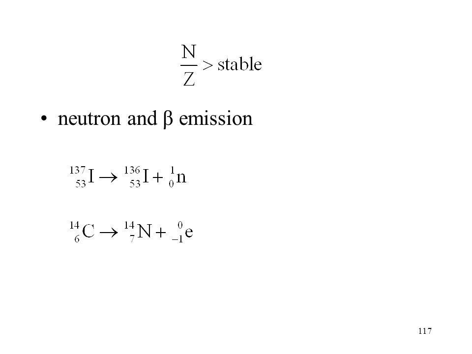 neutron and β emission
