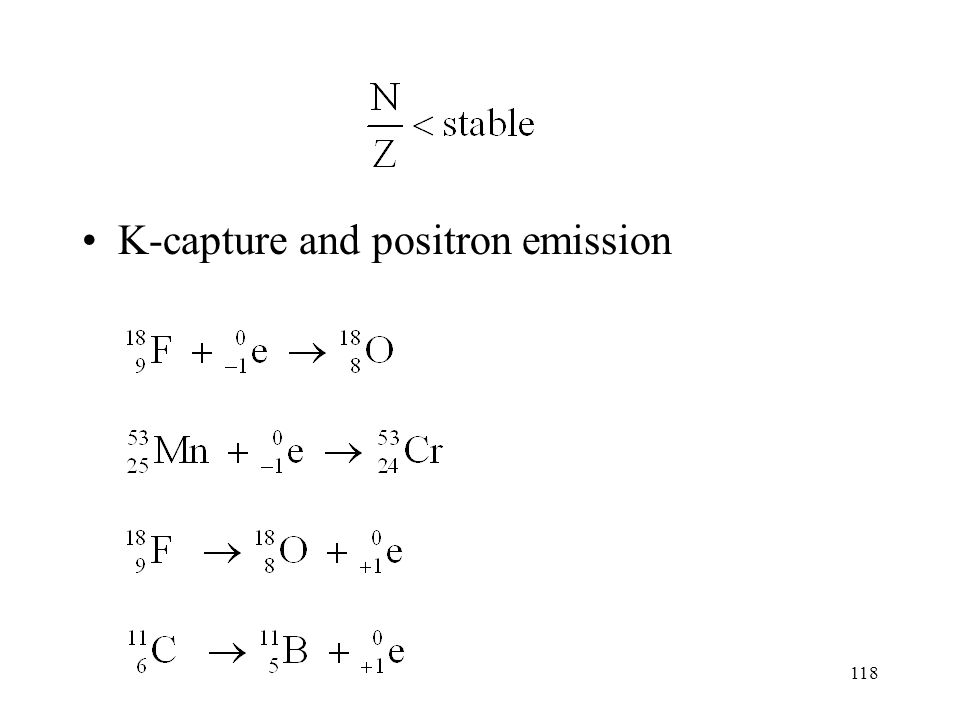 K-capture and positron emission