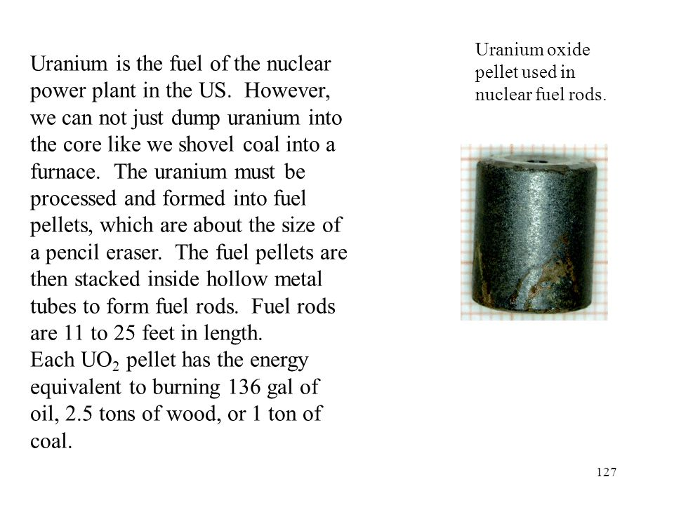 Uranium oxide pellet used in nuclear fuel rods.