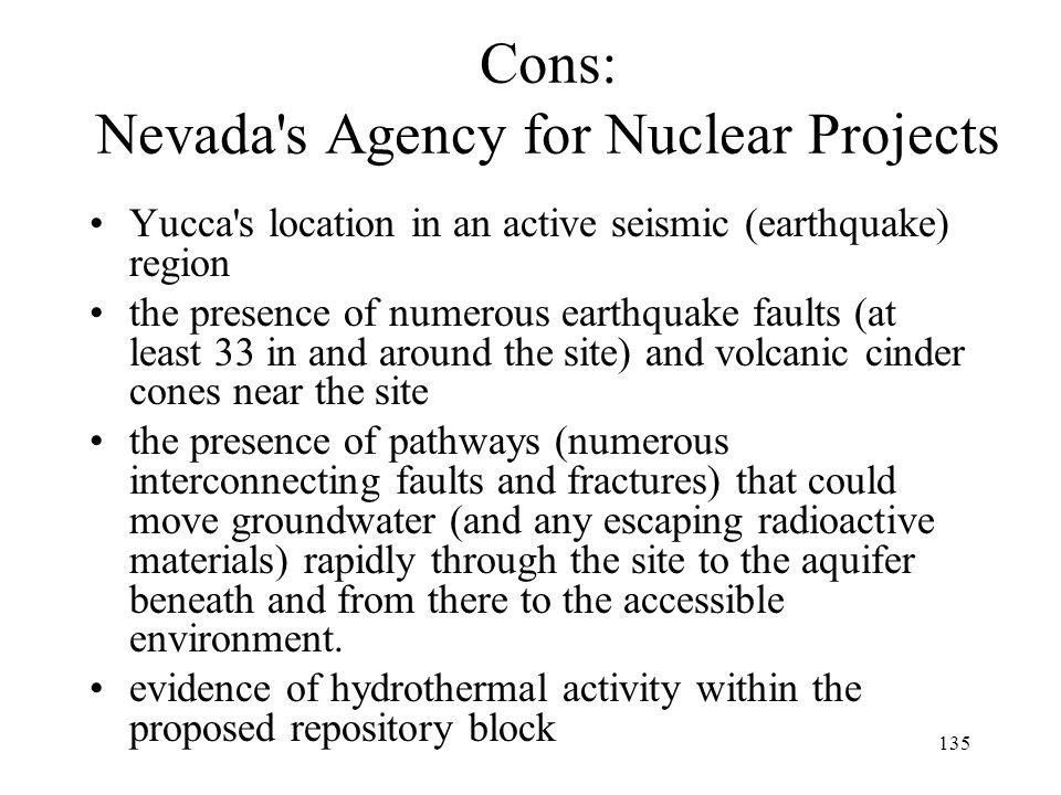 Cons: Nevada s Agency for Nuclear Projects