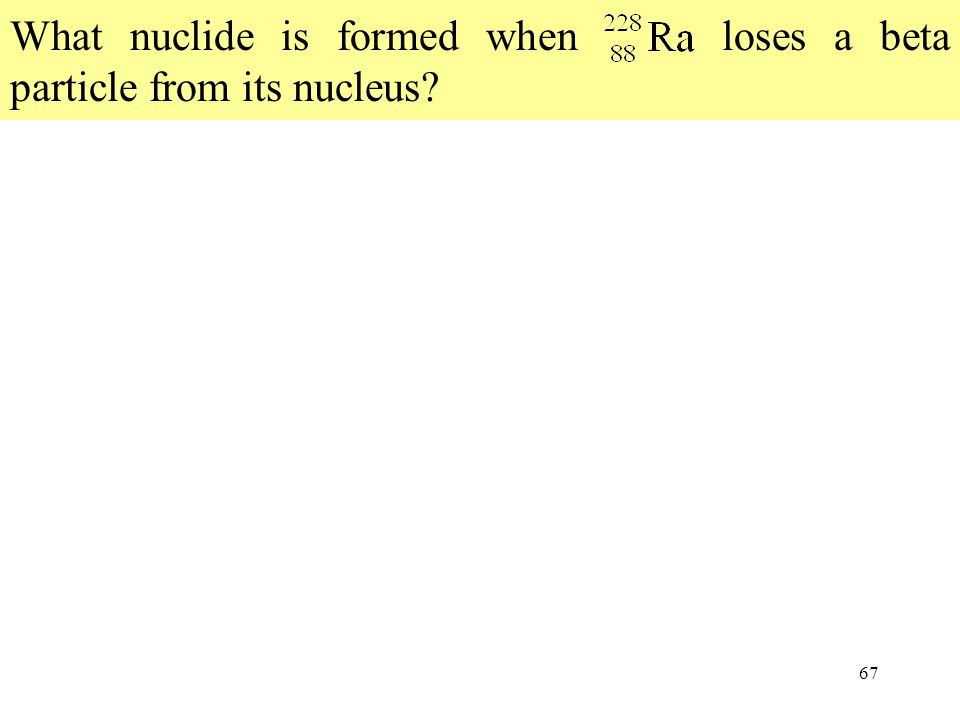 What nuclide is formed when 194Ra loses a beta particle from its nucleus