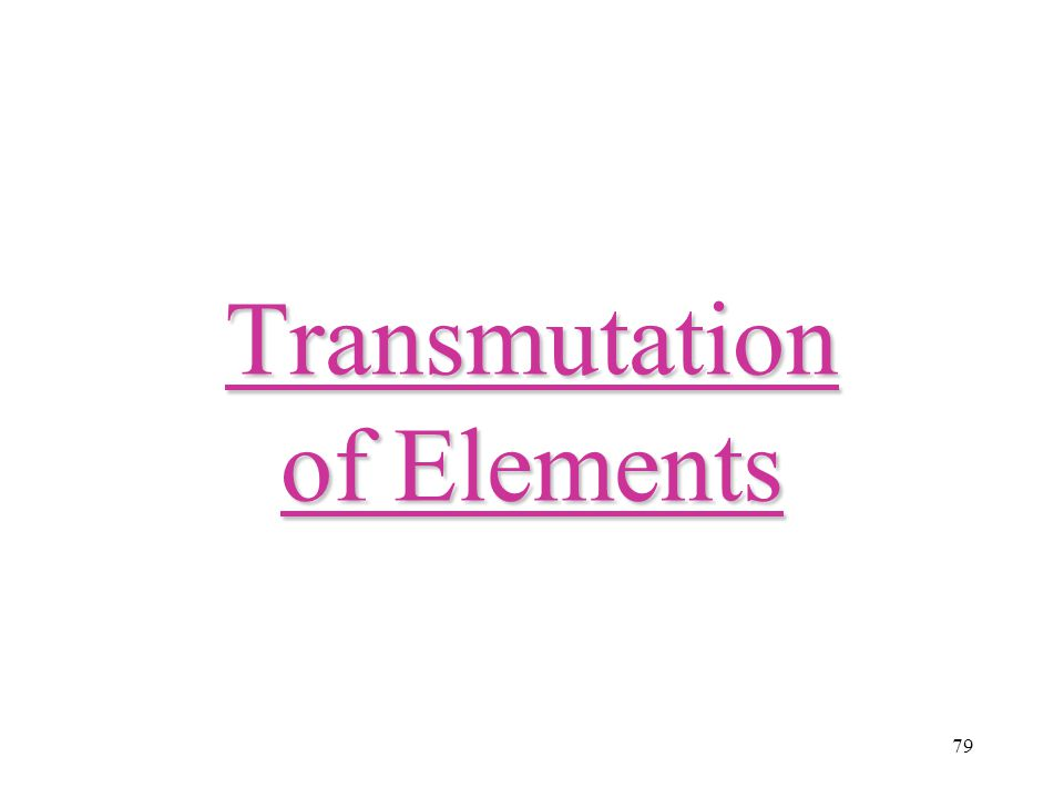 Transmutation of Elements