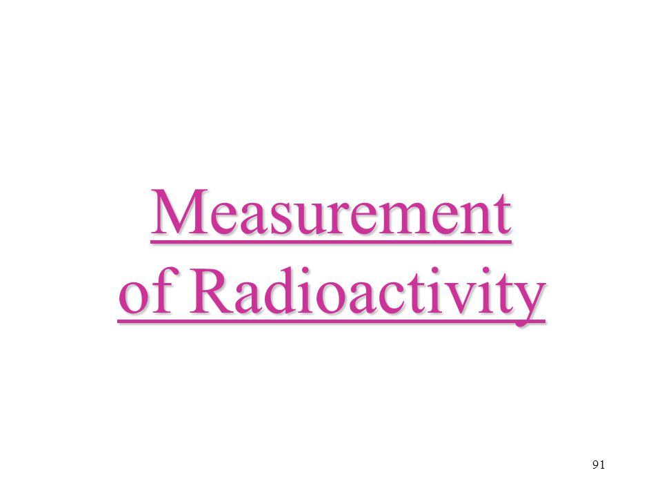 Measurement of Radioactivity