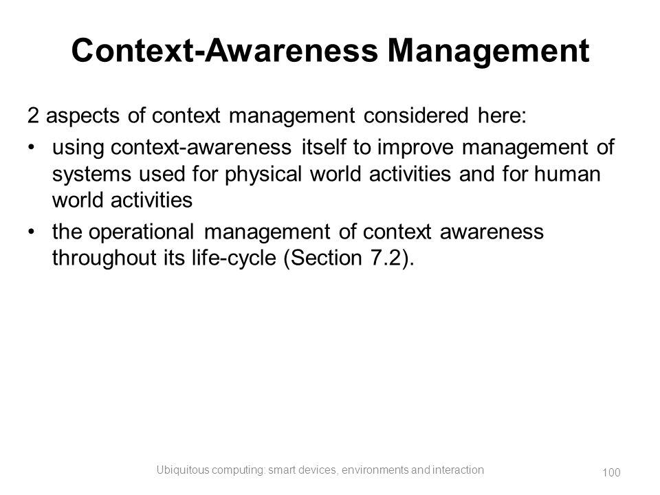 Context-Awareness Management