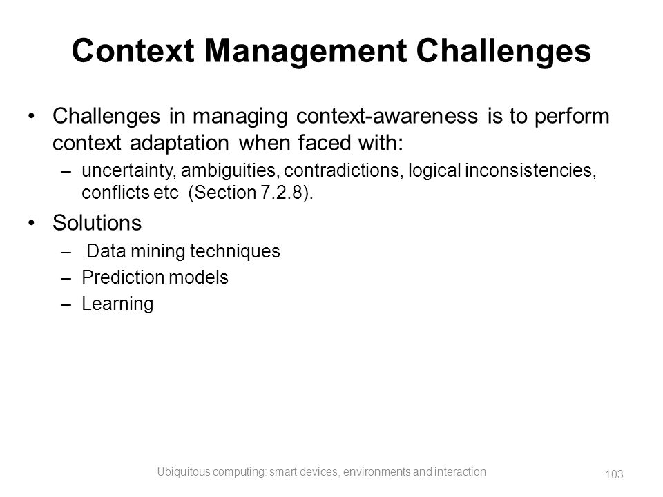 Context Management Challenges
