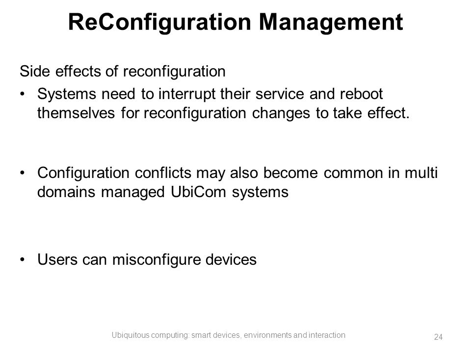 ReConfiguration Management