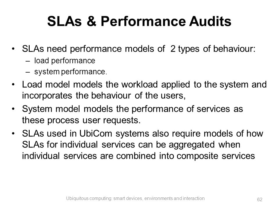 SLAs & Performance Audits