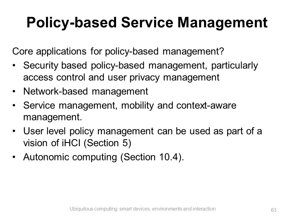 Policy-based Service Management