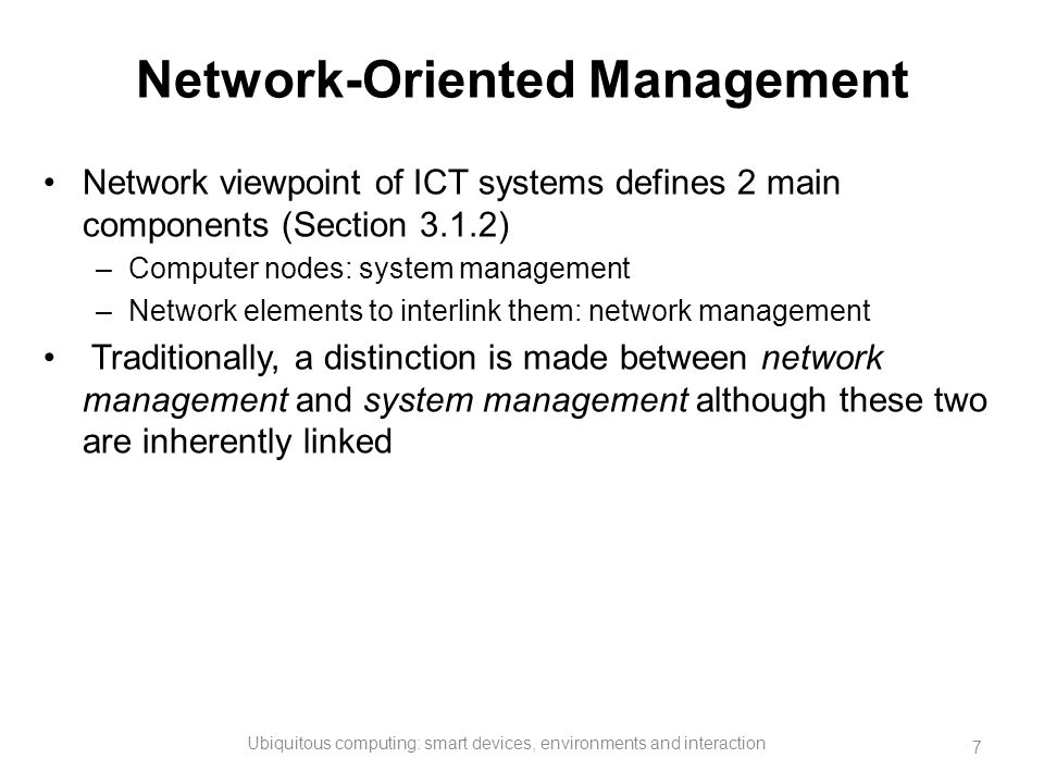 Network-Oriented Management