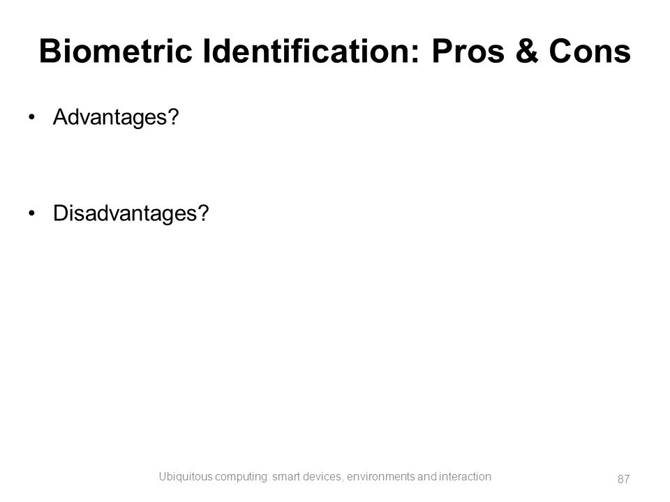 Biometric Identification: Pros & Cons