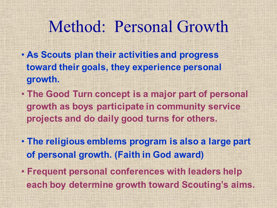 Method: Personal Growth