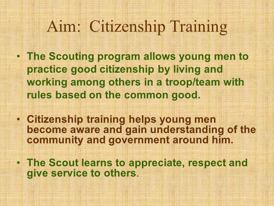 Aim: Citizenship Training