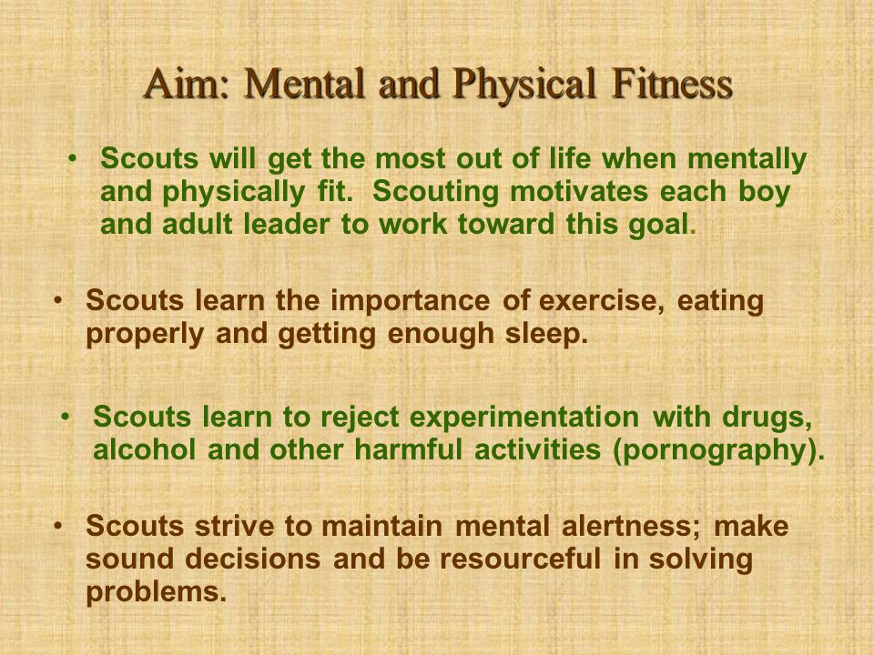 Aim: Mental and Physical Fitness