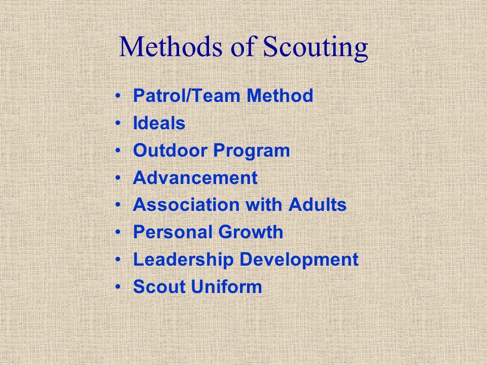 Methods of Scouting Patrol/Team Method Ideals Outdoor Program