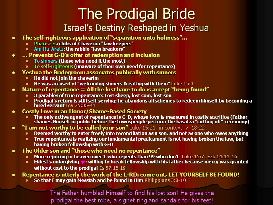 The Prodigal Bride Israel's Destiny Reshaped in Yeshua