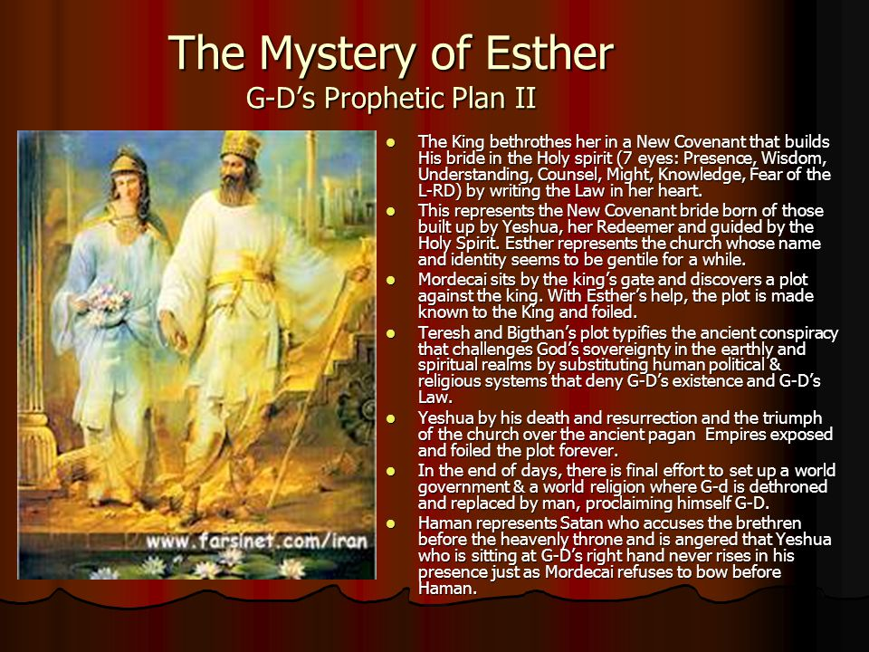 The Mystery of Esther G-D's Prophetic Plan II