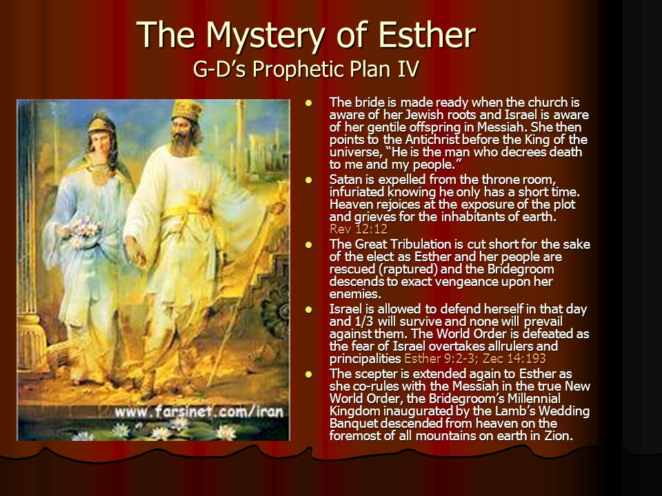 The Mystery of Esther G-D's Prophetic Plan IV
