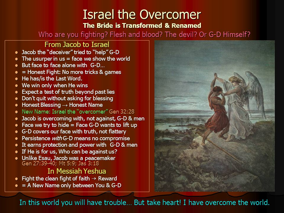 Israel the Overcomer The Bride is Transformed & Renamed
