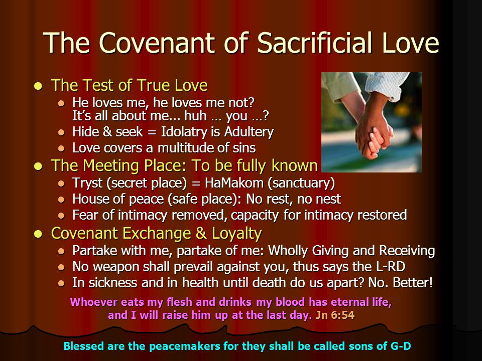 The Covenant of Sacrificial Love