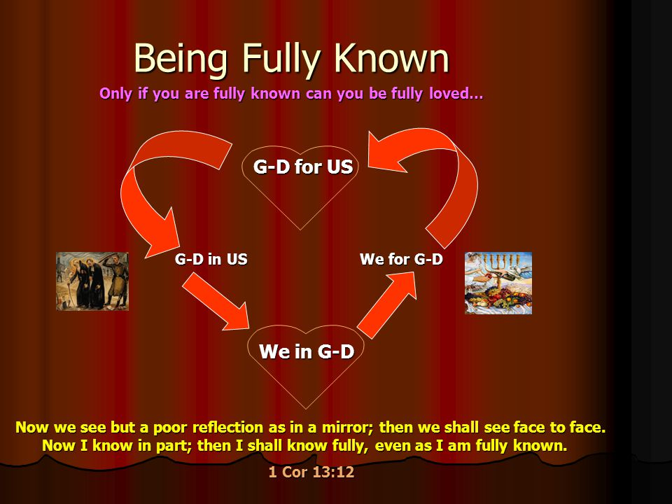 Being Fully Known G-D for US We in G-D