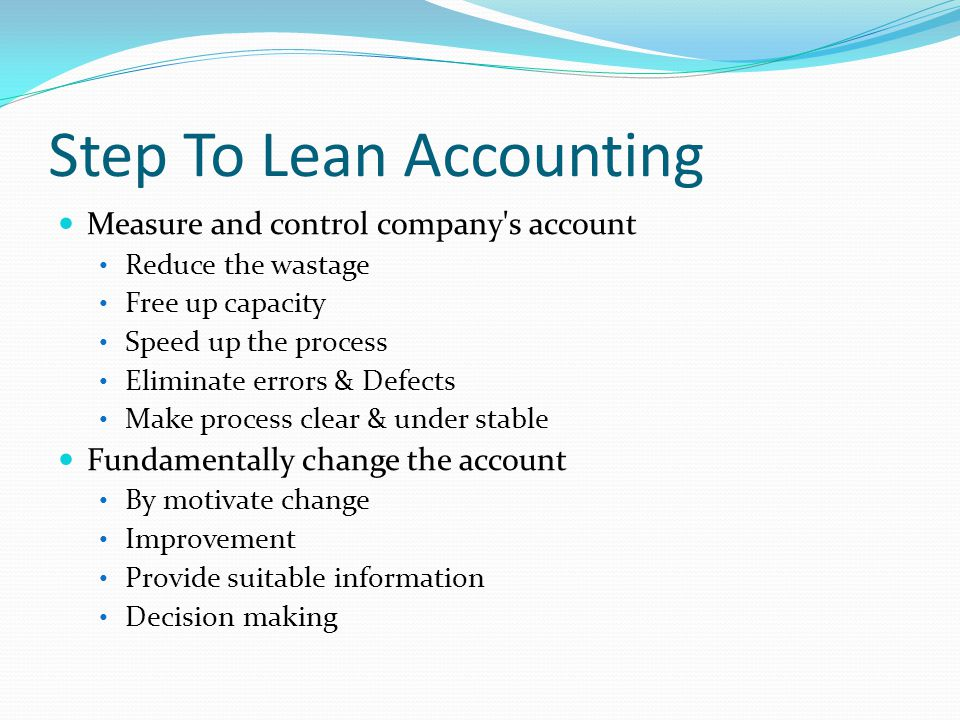 Step To Lean Accounting