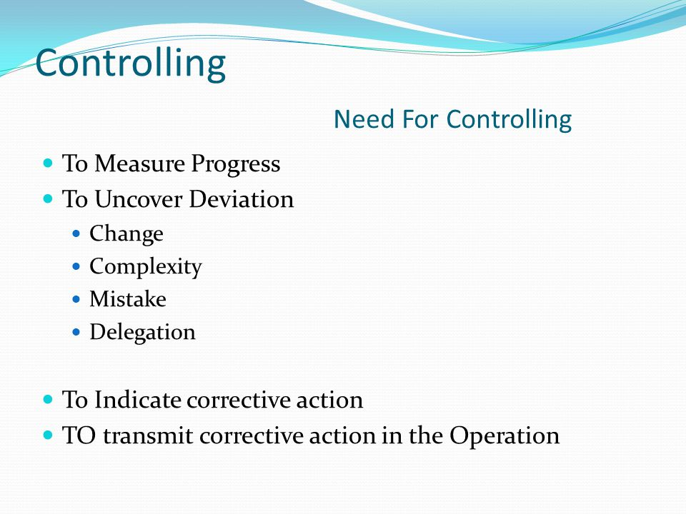 Controlling Need For Controlling
