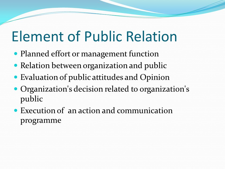 Element of Public Relation