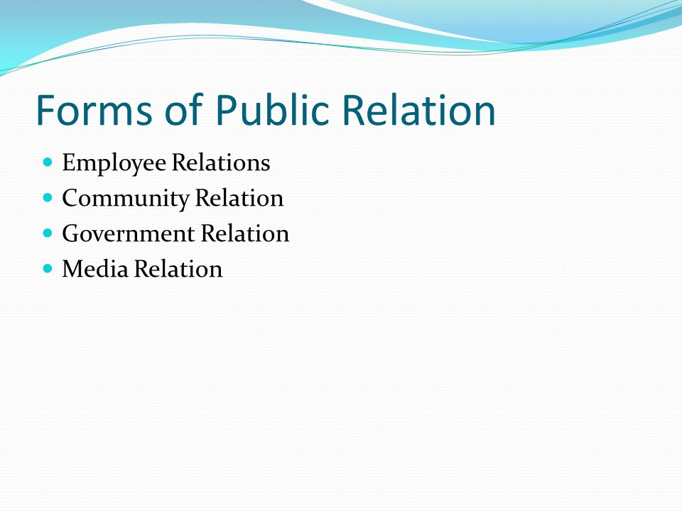 Forms of Public Relation