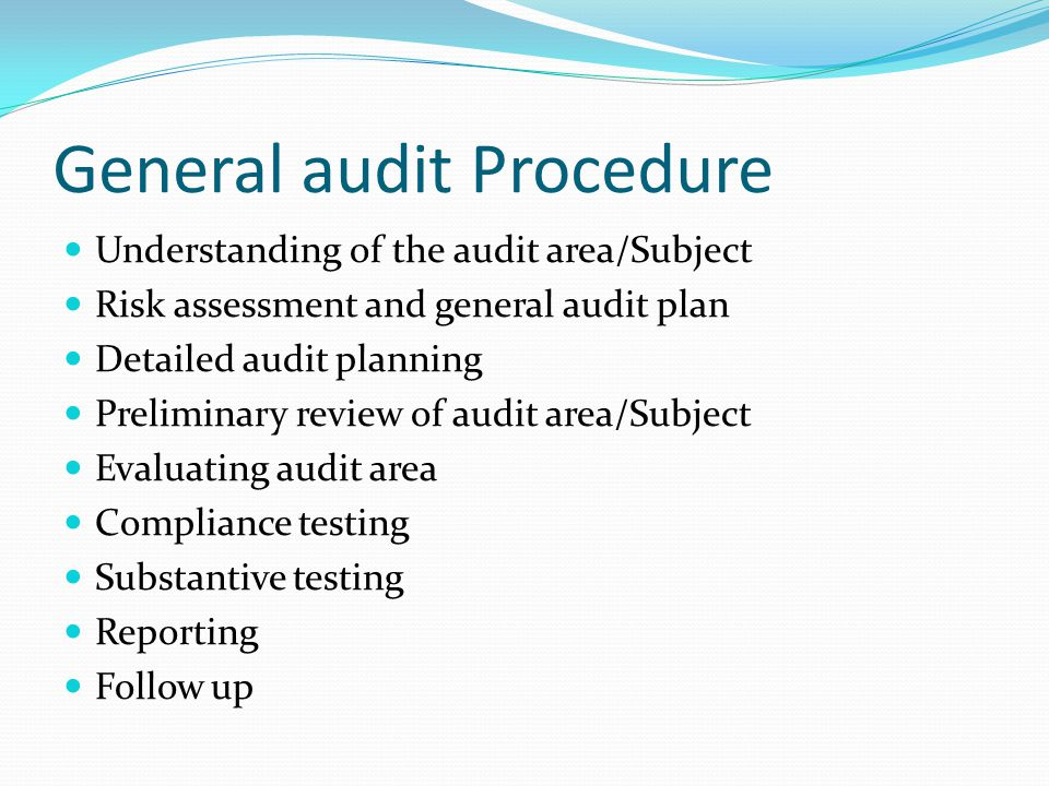 General audit Procedure