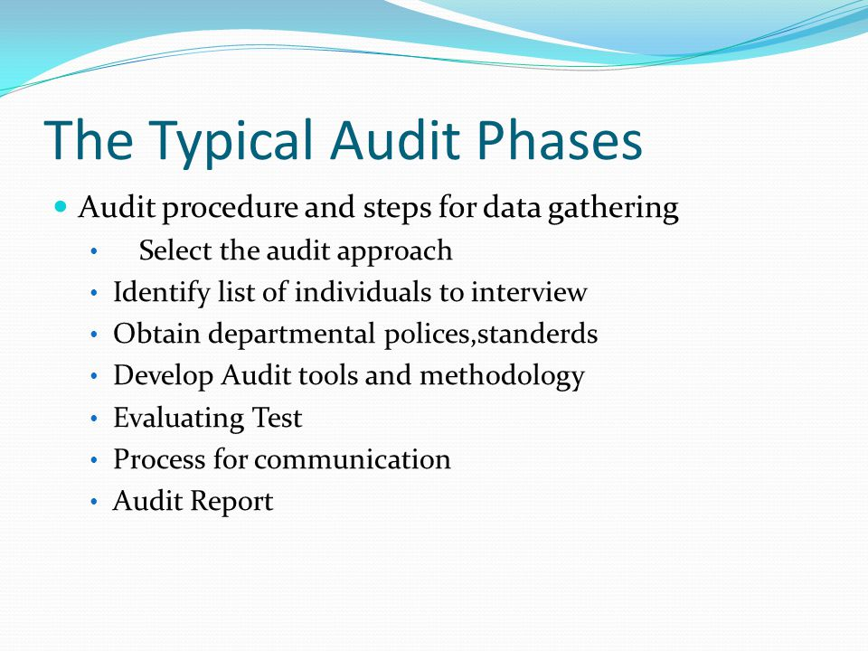 The Typical Audit Phases