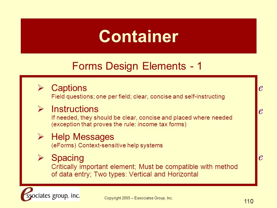 Container Forms Design Elements - 1