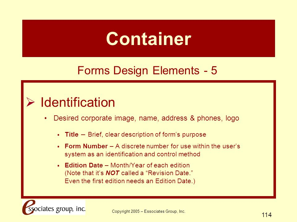 Container Identification Forms Design Elements - 5